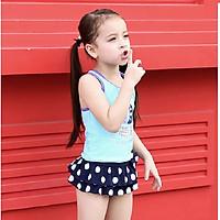 Bộ bơi VIvo sát nách chân váy hình thuyền buồm bé gái từ 2 đến 10 tuổi