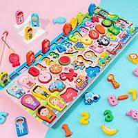 Bộ đồ chơi câu cá gỗ trí tuệ 63 chi tiết phối hợp nhiều chủ đề màu sắc bắt mắt cho bé vừa học vừa chơi – DC027