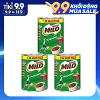 Combo 3 Hộp Sữa bột Nestlé Milo Australia 1000g - Nhập khẩu Australia, cung cấp nguồn năng lượng dồi dà, tăng cường thể lực