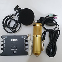 Combo Bộ Míc Thu Âm Livestream Hát Karaoke Online Micro BM-900+ CARD K10+ dây live MA2