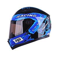 Mũ Bảo Hiểm AGU Tem Racing 15 Tặng Kèm Sừng