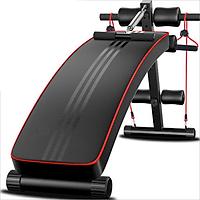 Ghế tập bụng, ghế tập gym đa năng hỗ trợ nhiều bài tập cơ bụng, dây kéo tập tay đệm êm thoát khí