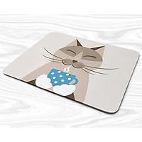 Miếng lót chuột mẫu Mèo cầm ly