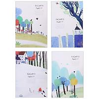 Sổ vở Colored Forest họa tiết ngôi nhà cây cối 60 trang - 1 cuốn ( giao ngẫu nhiên)