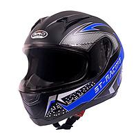 Mũ bảo hiểm fullface GRO ST13 dán tem, nón bảo hiểm dáng thể thao cá tính mạnh mẽ cho các phượt thủ - Hàng chính hãng