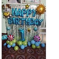 combo bóng bay trang trí sinh nhật cho bé trai và bé gái