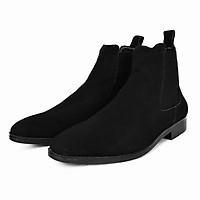 Giày Chelsea Boot Cổ Cao Da Bò Thật TEFOSS HT350 Đen