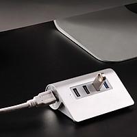 Bộ hub chia 4 cổng USB3.0 vỏ nhôm M3H4