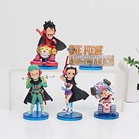 5 cái / bộ Anime Đồ chơi hình một mảnh WCF Mugiwara56 vol.2 Nami Sanji Usopp Franky Brook PVC Hình nhân vật hành động Đồ chơi quà tặng