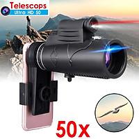 Monocular 12X50 Zoom Optical HD Lens Telescope for iPhone Samsung