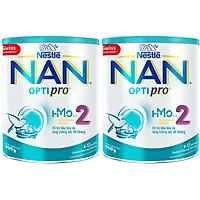 Combo 2 Lon Sữa Bột Nestlé NAN OPTIPRO 2 HMO 900g