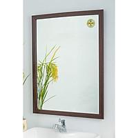 [KIBATH] Gương soi khung viền 3cm vân gỗ đậm KT 50x65 cm