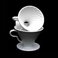 Phễu lọc cà phê V60 sứ cao cấp Brewista Dripper - màu trắng