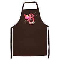 Tạp Dề Làm Bếp In Hình Mùng 8 3 - ACNTU006 – Màu Nâu