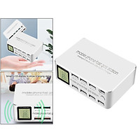 8 Ports Quick Charger Charging Station HUB Type C PD Fast Charger EU-Plug