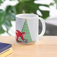 Cốc sứ uống trà cà phê in hình mùa giáng sinh an lành- Cốc noel