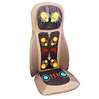 Ghế massage lưng, cổ, mông xoa bóp day ấn rung, nhiệt hồng ngoại Nikio NK-180 - Màu nâu