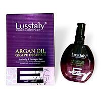 Tinh dầu Lusstaly Argan Oil Grape Essence dưỡng bóng suôn mượt tóc 50ml