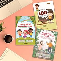 Sách rèn luyện tư duy cho học sinh_COMBO SÁCH RÈN LUYỆN KĨ NĂNG: THỬ TÀI GIẢI ĐỐ SONG NGỮ VIỆT - ANH (dành cho học sinh từ 6 -15 tuổi)+ 100 CÂU ĐỐ RÈN LUYỆN TƯ DUY KHÁM PHÁ CUỘC SỐNG QUANH TA + NHÌN HÌNH GIẢI ĐỐ 100 CÂU THÀNH NGỮ, TỤC NGỮ VIỆT NAM