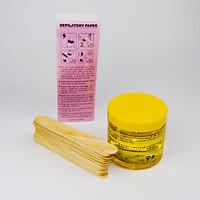 Combo Wax Lạnh Tẩy Lông Gồm: 1 Hủ Wax Lạnh 750G + 100 Tờ Giấy Wax Lông + 25 Que Trét Wax