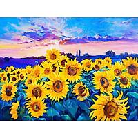 Bimkole 5D Diamond Painting Sunflower Against Blue Sky Full Drill DIY Rhinestone Pasted with Diamond Set Arts Craft Decorations (12x16inch)