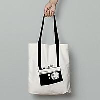 Túi Vải Tote Canvas Cao Cấp, Dày Dặn Hình Máy Ảnh, Phong Cách Basic