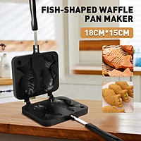 Fish Shaped Waffle Pan Maker Household 2 Non-stick Bakewares Waffle Machine Anti-scalding Baking Tools Home Cooking Dessert Pastry Wafer Food