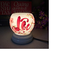 Đèn xông tinh dầu - Đèn gốm vẽ mini