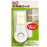 Đai khóa gài cửa phòng, ngăn kéo, tủ lạnh an toàn cho bé - Nội địa Nhật Bản