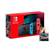 Máy Chơi Game Nintendo Switch Với Neon Blue-Game Zelda Breath of the Wild-MODEL 2019-HÀNG NHẬP KHẨU