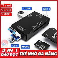 Đầu Đọc Thẻ Nhớ OTG Đa Năng 3 in 1, USB 3.0 Type C Micro, Đọc Thẻ Nhớ Máy Ảnh Ổ USB Micro SD Card Cho Điện Thoại Máy Tính, đầu đọc thẻ nhớ sd, đồ đọc thẻ nhớ, usb 3.0 đọc thẻ nhớ, đầu đọc thẻ nhớ otg type c micro usb