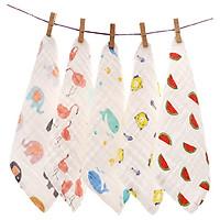 Set 5 khăn sữa sợi tre 4 lớp,siêu mềm mại, siêu kháng khuẩn, chọn màu ngẫu nhiên