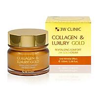 Kem dưỡng trắng da, ngăn ngừa lão hoá từ collagen và vàng 24K 3W Clinic Collagen & Luxury Gold Cream 100ml