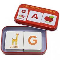 Hộp Thẻ Flashcards Ghép Hình Nhận Thức Cho Bé Học Tiếng Anh (Hộp Đỏ)