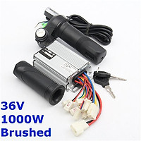 Plastic36V Motor Brush controller Electric Vehicle Throttle Handle Wires Interface Current limit 32A Rated Power 1000