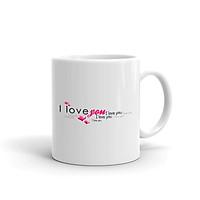 Cốc Sứ Cao Cấp In Hình I Love You Valentines - Mẫu009