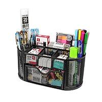 Hộp Đựng Bút để bàn cao cấp NS12 bằng thép sơn tĩnh điện chắc chắn, dùng đựng bút viết và các dụng cụ văn phòng + Tặng kèm tập giấy ghi chú Note