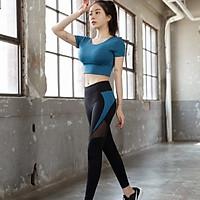 [Đẹp Chất] Bộ Quần Áo Tập Yoga Gym Nữ Cao Cấp, Form Chuẩn Tôn Dáng, Áo Croptop Có Mút - LUX57