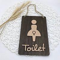 Bảng gỗ trang trí TOILET NỮ
