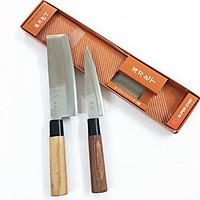 Set 2 Dao Bếp thái gọt cao cấp cán gỗ Chính hãng Tiêu chuẩn Nhật Bản (thép không gỉ) D_86