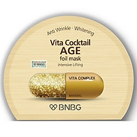 Mặt nạ dưỡng da giúp nâng cơ, chống lão hóa BNBG Vita Cocktail Age Foil Mask - Intensive Lifting 30ml