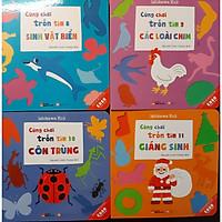 Combo 4 cuốn Ehon Nhật Bản Cùng chơi trốn tìm 8 Sinh vật biển, Cùng chơi trốn tìm 9 Các loài chim, Cùng chơi trốn tìm 10 Côn trùng, Cùng chơi trốn tìm 11 Giáng sinh