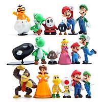 Mô hình 18 Nhân Vật Trong Game Super Mario