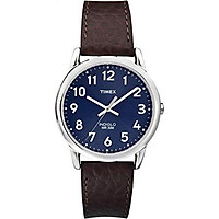 Timex Men's T2P319 Easy Reader Brown Leather Strap Watch