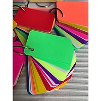 500 thẻ flashcard dạ quang mix 8 màu cao cấp dày 180gsm nhập khẩu