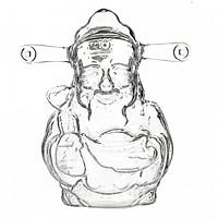 VỎ CHAI THỦY TINH HÌNH THẦN TÀI
