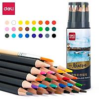 Bút chì màu cao cấp Deli dạng cốc - 24 màu/36 màu/72 màu - 68100/68101/68114