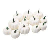 12Pcs Artificial Small White Pumpkins Foam Party Supplies Table Photo Props