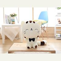Thú Bông Mèo MengMeng 60cm Siêu Mịn (Trắng Sữa)