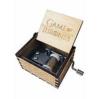 Hộp Nhạc Gỗ Cổ Điển Khắc Chữ Game of Thrones